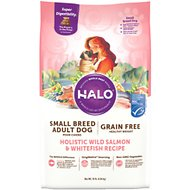 Halo Holistic Wild Salmon & Whitefish Grain-Free Healhy Weight Small Breed Dry Dog Food, 10-lb bag