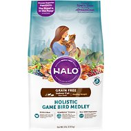 Halo Holistic Game Bird Medley Grain-Free Healthy Weight Indoor Cat Dry Cat Food, 6-lb bag