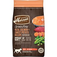 Merrick Grain-Free Real Salmon & Sweet Potato Recipe Adult Dry Dog Food, 12-lb bag
