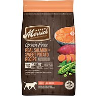 Merrick Grain-Free Real Salmon & Sweet Potato Recipe Adult Dry Dog Food, 25-lb bag