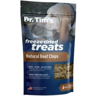 Dr. Tim's Natural Beef Chips Genuine Freeze-Dried Dog & Cat Treats, 4-oz bag