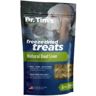 Dr. Tim's Natural Beef Liver Genuine Freeze-Dried Dog & Cat Treats, 6-oz bag