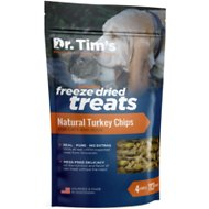 Dr. Tim's Natural Turkey Chips Genuine Freeze-Dried Dog & Cat Treats, 4-oz bag