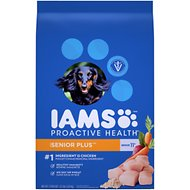 Iams Proactive Health Senior Plus Dry Dog Food, 12.5-lb bag