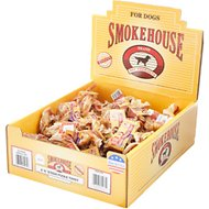 "Smokehouse USA 4"" Steer Pizzle Twists Dog Treats, Case of 50"