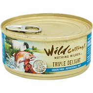 Wild Calling Triple Delight Lamb, Salmon & Chicken Recipe Grain-Free Adult Canned Cat Food, 5.5-oz, case of 24