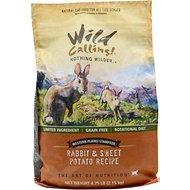 Wild Calling Western Plains Stampede Rabbit & Sweet Potato Recipe Grain-Free Dry Cat Food, 4.75-lb bag