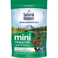 Natural Balance Limited Ingredient Diets Mini-Rewards Lamb Formula Dog Treats, 4-oz bag