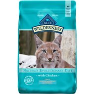 Blue Buffalo Wilderness Chicken Recipe Indoor Hairball Control Grain-Free Dry Cat Food, 11-lb bag