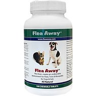 Flea Away Natural Flea, Tick & Mosquito Repellent for Dogs & Cats, 100 chewable tablets