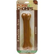 Premium Pork Chomps Roasted Pressed Bone Dog Treats, 7-inch, 1 count