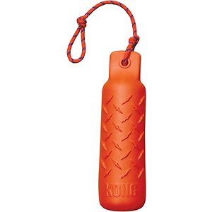 KONG Training Dummy for Dogs, X-Large; Get smart about training with the KONG Training Dummy. This highly visible foam dummy is a great toss-and-retrieve toy that teaches dogs to use a soft-mouth carry. The Training Dummy floats for use in water or on land.