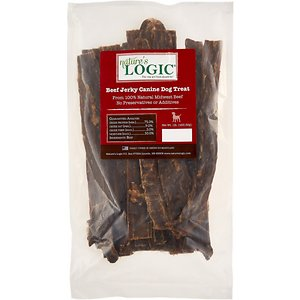 Nature's Logic Beef Jerky Dog Treats, 1-lb bag