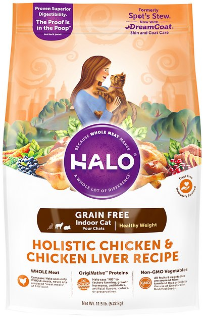 Halo Spots Stew Hearty Chicken Dry Cat Food Reviews