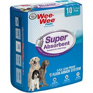 "Wee-Wee Pads for Adult Dogs, 24"" x 24"", 10 count"