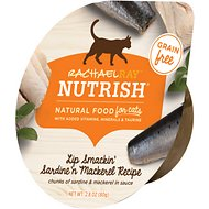 Rachael Ray Nutrish Lip Smackin' Sardine 'N Mackerel Recipe Natural Grain-Free Wet Cat Food, 2.8-oz, case of 24