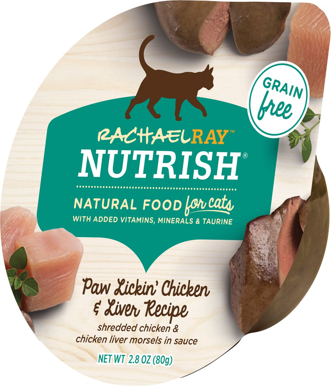 Rachael Ray Nutrish Paw Lickin Chicken Liver Recipe Natural Grain Free Wet Cat Food 2 8 Oz Case Of 24