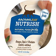 Rachael Ray Nutrish Ocean Fish & Chicken Catch-iatore Natural Grain-Free Wet Cat Food, 2.8-oz, case of 24