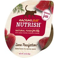 Rachael Ray Nutrish Tuna Purrfection Natural Grain-Free Wet Cat Food, 2.8-oz, case of 24