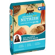 Rachael Ray Nutrish Natural Salmon & Brown Rice Recipe Dry Cat Food, 14-lb bag