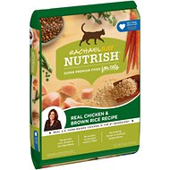 Rachael Ray Nutrish Natural Chicken & Brown Rice Recipe Dry Cat Food, 14-lb bag