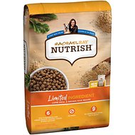 Rachael Ray Nutrish Just 6 Natural Lamb Meal & Brown Rice Limited Ingredient Recipe Dry Dog Food, 28-lb bag
