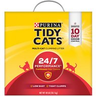 Tidy Cats Scoop 24/7 Performance Continuous Odor Control Cat Litter, 40-lb box