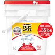 Tidy Cats LightWeight 24/7 Performance Clumping Cat Litter, 17-lb pail