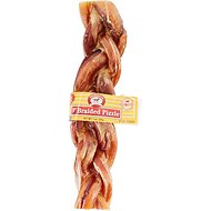 "Smokehouse USA 9"" Braided Pizzle Sticks Dog Treats, 9-in chew, 1 count"