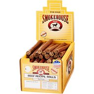 Smokehouse USA Beef Recipe Rolls Dog Treats, Case of 60