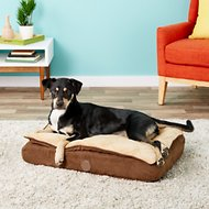 K&H Pet Products Feather-Top Orthopedic Pet Bed, Chocolate, Small
