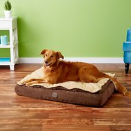 K&H Pet Products Feather-Top Orthopedic Pet Bed, Chocolate, Medium