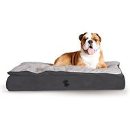 K&H Pet Products Feather-Top Orthopedic Pet Bed, Charcoal, Large