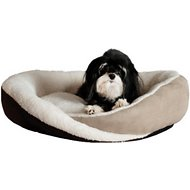 K&H Pet Products Huggy Nest Pet Bed, Tan/Caramel, Medium