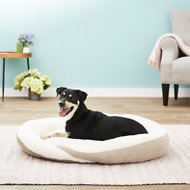 K&H Pet Products Huggy Nest Pet Bed, Green/Tan, Large
