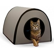 K&H Pet Products Mod Thermo-Kitty Shelter, Gray