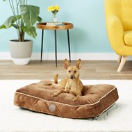 K&H Pet Products Tufted Pillow Top Pet Bed, Chocolate, Small