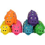 Multipet Latex Polka Dot Globlet Pig Dog Toy, Color Varies, 4-in