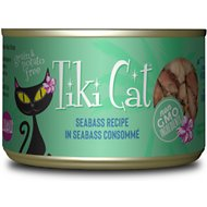 Tiki Cat Oahu Luau Seabass in Seabass Consomme Grain-Free Canned Cat Food, 6-oz, case of 8