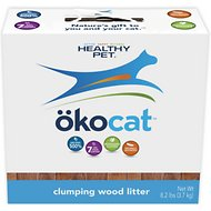 Okocat Natural Wood Clumping Cat Litter, 8.2-lb box