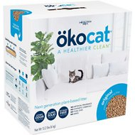 Okocat Natural Wood Clumping Cat Litter, 13.2-lb box