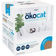 Okocat Natural Wood Clumping Cat Litter, 19.8-lb box