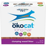 Okocat Natural Wood Long Hair Breeds Cat Litter, 9.2-lb box