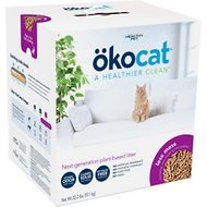 Okocat Natural Wood Long Hair Breeds Cat Litter, 22.2-lb box