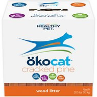 Okocat Natural Wood Pine Cat Litter, 20.5-lb box
