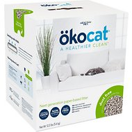 Okocat Natural Paper Dust Free Cat Litter, 12.3-lb box