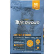 Blackwood Chicken Meal & Rice Recipe Kitten Formula Dry Cat Food, 4-lb bag
