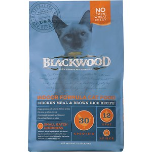 Blackwood Chicken Meal & Rice Recipe Indoor Formula Dry Cat Food, 4-lb bag