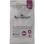 Blackwood Salmon Meal & Brown Rice Recipe Sensitive Skin & Stomach Formula Dry Dog Food, 5-lb bag