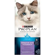 Purina Pro Plan Focus Adult Sensitive Skin & Stomach Herring & Rice Formula Dry Cat Food, 7-lb bag